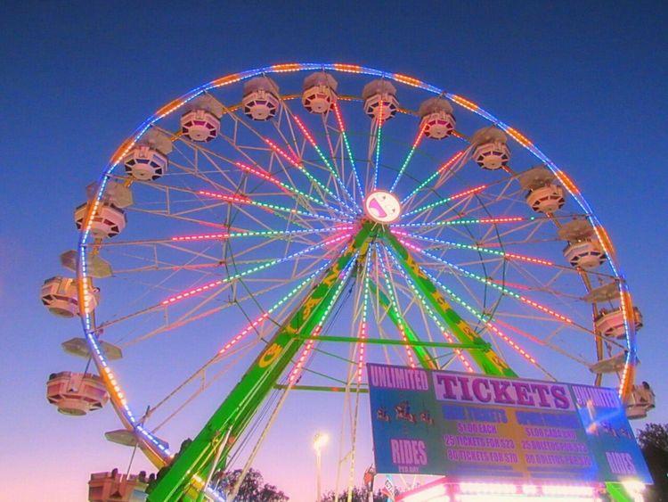 Ferris Wheel Lighted Night Nightlights Carnival Carnival Rides Fun Fair Ca State Fair