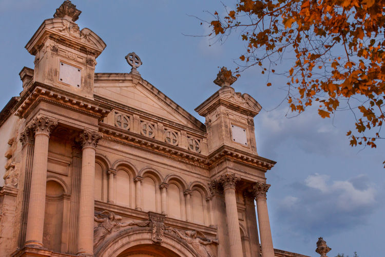 Madeleine Church, Aix-en-Provence Arch Architectural Column Architecture Blue Building Exterior Built Structure City Cloud - Sky Culture Famous Place Gothic Style High Section History Low Angle View No People Outdoors Sky Tourism Travel Travel Destinations