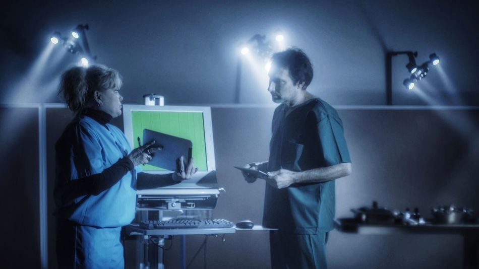 Standing Indoors  Illuminated Surgical Instruments Nurse Medicine Surgical Surgery Laboratory Two People Real People