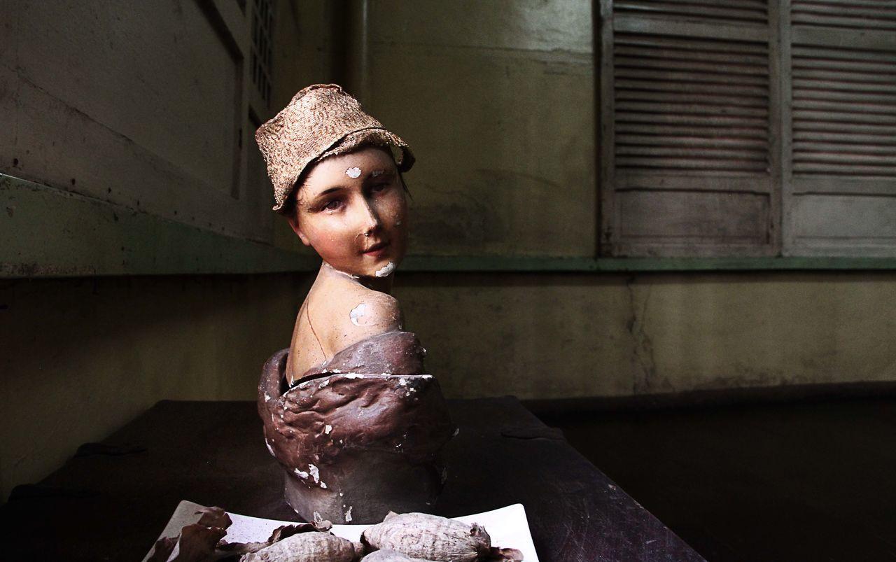 Close-Up Of Female Sculpture