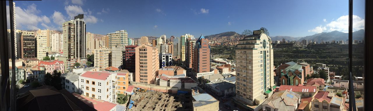 Panoramic View Of Buildings In City