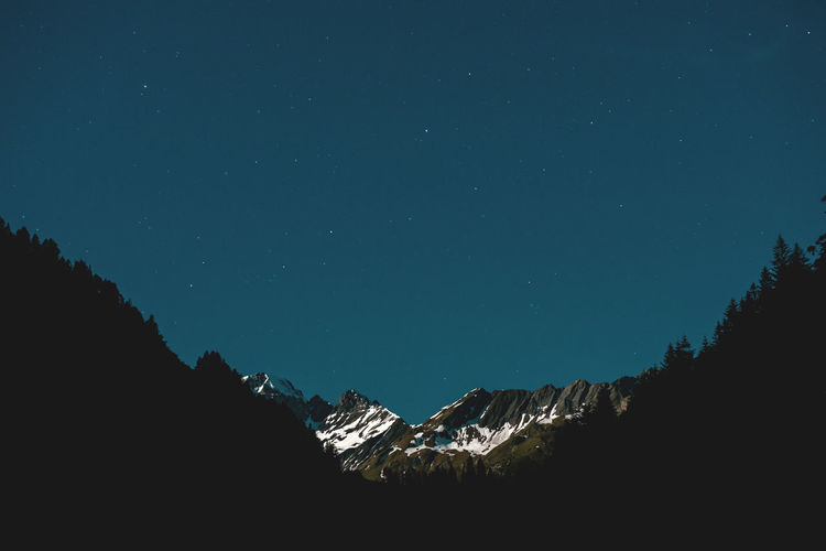 Moon Nights Alpine Full Moon MoonNights Quiet Moments Alps Alps Switzerland Calfeisental Dark Blue Darkness And Light Full Moon Night  Longtimeexposure Moonlight Moonscapes Mountain Range Night Night Sky Nightscape Peaceful Scenics Silhouette Sky Snowcapped Mountain Stars Swiss Alps Switzerland
