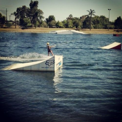 Beautiful day Shred Cableswakepark Penrith Wakeboarding