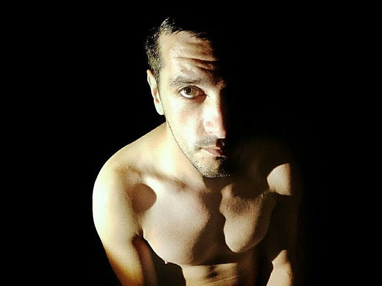 Self Portrait Photography One Man Only Only Men Shirtless Portrait Looking At Camera One Person Muscular Build Black Background Studio Shot Men Handsome One Young Man Only Sport Athlete People Self Portrait Photography Me Myself And I Light And Shadow Light Dark Shadow The Week On EyeEm