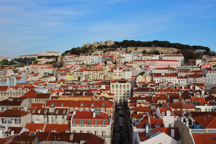 Lissabon, Portugal Lisbon - Portugal Cityview Architecture Building Exterior Built Structure Building Residential District Sky City Town Roof House Day Nature Crowded Crowd Community TOWNSCAPE Outdoors Cityscape Travel Destinations