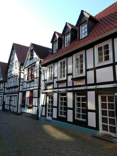 Paderborn Paderborn Germany Architecture Building Building Exterior Built Structure City Clear Sky Day House Multi Colored Nature No People Outdoors Pader Paderquellgebiet Residential District Roof Row House Sky Street Town Transportation Window
