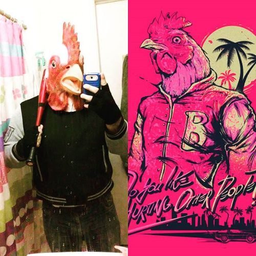 """Do you like hurting people?."" Happy Halloween everyone!! 😄 have a good yall be safe out there!! Happyhalloween Halloweenspirit Halloween Jacket Richard HotlineMiami Devolverdigital Videogames Gamer Nerd Indiegames Hotlinemiami2"
