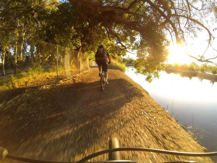 Taking Photos Outdoors Trail Path Celebrate Your Ride On The Move On Your Bike Bicycle Bike Perspective POV Point Of View Tire Tread Tire Person Rider Cyclist MTB Sunlight Whatever The Great Outdoors - 2016 EyeEm Awards