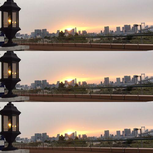 View Tokyo,Japan Odaiba Daiba Aquacity Rainbow Bridge Bridge Sea Sea And Sky Seaside Seaside_restaurant Sunset Building Buildings & Sky Buildings