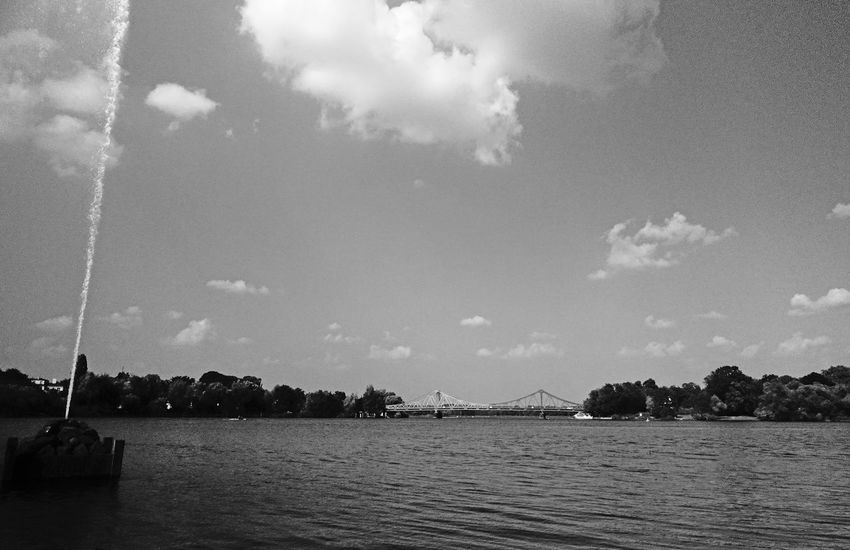 Beauty In Nature Blackandwhite Monochrome Nature Outdoors Potsdam Reflection Schwarzweiß Sea See Sky Water Waterfront