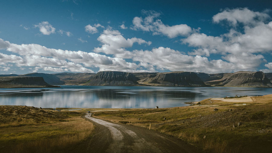 The unique view of the Westfjords Adventure Exploring Iceland Lake Landscape Mountain Nature Nature Photography Ocean Outdoors Reflection Road Roadtrip Summer Travel Traveling Wanderlust Wild