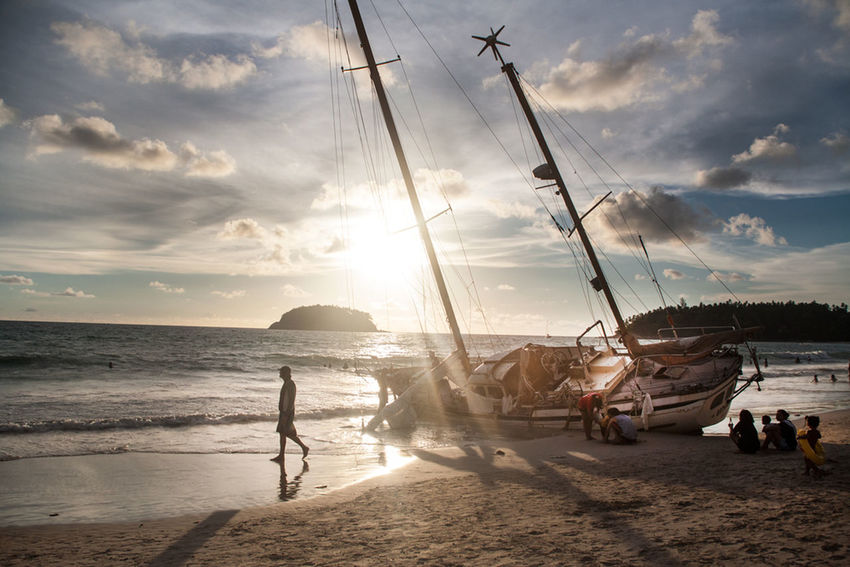 Shipwrecked Shipwreck Ship Sunset Nature Thailand Travel Travel Photography The Traveler - 2015 EyeEm Awards Spotted In Thailand Phuket,Thailand Feel The Journey
