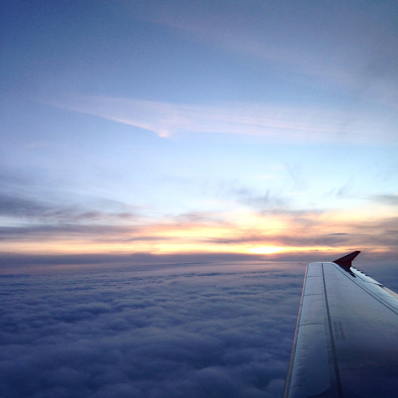 Majestic Cloudscape Seen From Airplane
