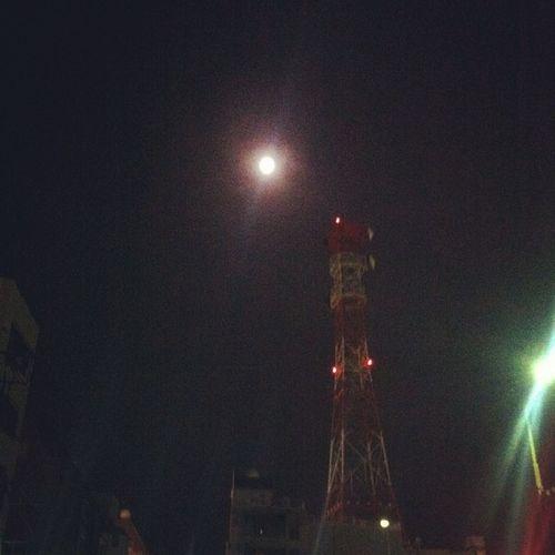 満月に雪降ってる…やっぱ寒>_< Sky Moon Owataris