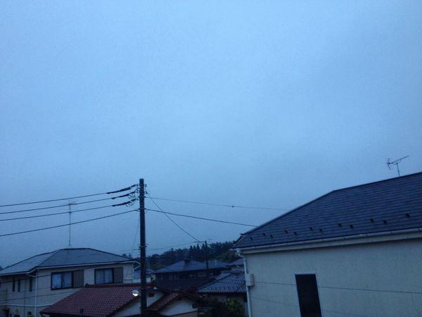 おはようございます( ´ ▽ ` )ノ Morning Cloud IPhone 4S 今朝も肌寒いよ