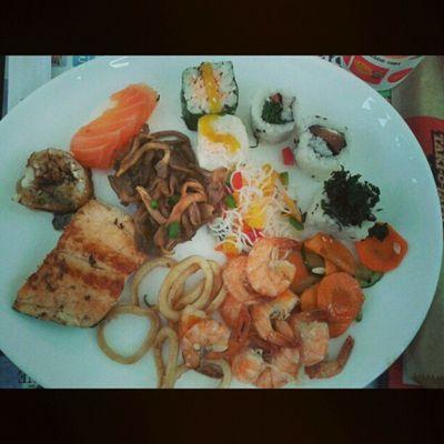 Almoco maravilhoso c a mae mais linda do mundo Japa