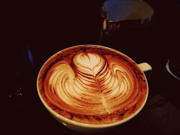 Laté art Coffee Cup Hotcoffee