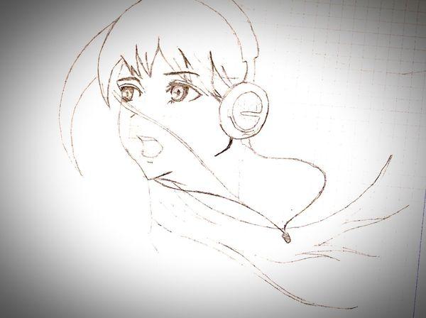 Art Anime White Black XXxTOMASzZz Girl