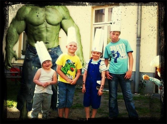 Grillen Mit Kids & Hulk