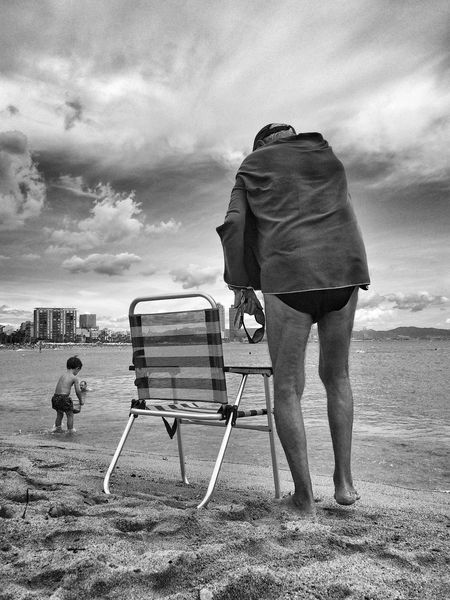 Beach days Streetphotography Blackandwhite Street Portrait Streetphoto_bw Eye4photography  Barceloneta Bw_collection Eye4black&white  EyeEm Best Shots
