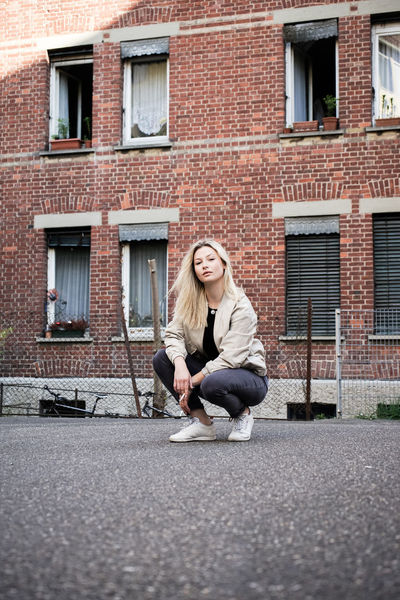 Anna-Lena 3/3 0711 Building Exterior Built Structure Casual Clothing Constantinschiller Full Length Herrschiller Kessel Leisure Activity Portrait Portrait Of A Friend Portrait Of A Woman Residential Building Residential Structure Stuttgart