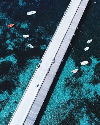 High angle view of broken swimming pool