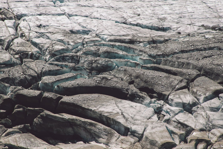 High angle view of ice formation at grossglockner