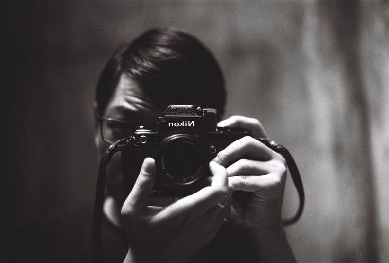 My self, my friend. On film Blackandwhite 35mm Ilford Nikonf2 Film Photography Dyutano First Eyeem Photo