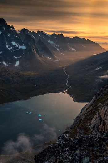 Greenland Sunset_collection Beauty In Nature Cloud - Sky Cold Temperature Day Lake Landscape Mountain Mountain Range Nature No People Outdoors Scenics Sky Snow Sunset Sunsets Tranquil Scene Tranquility Travel Destinations Water Winter