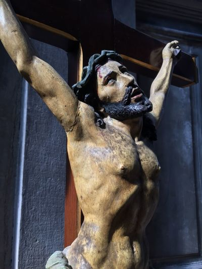 Wooden figure of Christ in La Salute church, Venice, Italy La Salute Italy Venice Jesus Christ On Cross Christ EyeEm Selects Human Representation Representation No People Sculpture Statue Art And Craft Male Likeness Religion