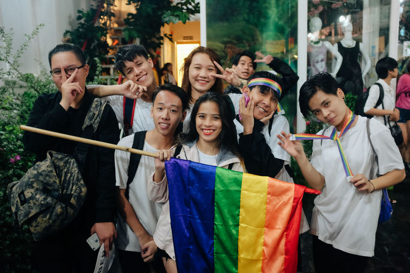 Ho Chi Minh City, Vietnam: Hundreds of young Vietnamese gathered up the celebrate the Viet Pride Saigon 2016 in Nguyen Hue Walking Streer, despite the heavy rain and last minute change. Freedom Gay Pride Lgbt Flag Lgbt Pride Loveislove Lovewins Pride2016 Prideparade Queer Rainbow Rainbow Flag Rainbowflag Saigon Togetherness Viet Pride Vietnamese VietPride Youth Of Today The Photojournalist - 2017 EyeEm Awards Place Of Heart This Is Queer Focus On The Story The Troublemakers Love Is Love
