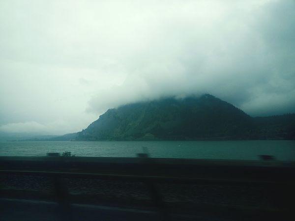 The Mystic Mountains. Columbia Eagle Landscape Beautiful Nature Rain Storm Cloudy