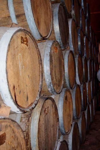Wine casks in cellar