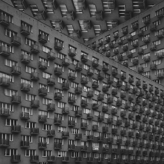 Abstructures - the series of intimidating concrete utopian visions. Living their human element souls under the rough inanimate outer layer. Architecture Geometric Shapes The Creative - 2018 EyeEm Awards Urban Geometry Abstract Balcony Concrete Estate Housing Settlement Modernism Windows