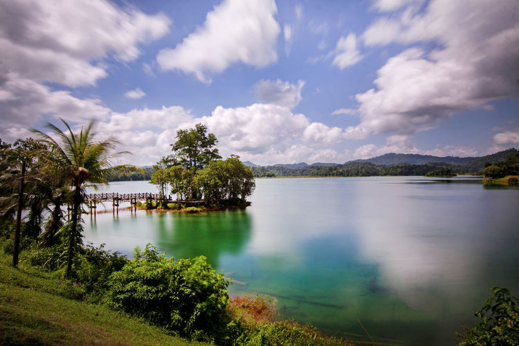 Sky Cloud - Sky Water Tree Plant Scenics - Nature Tranquil Scene Beauty In Nature Tranquility Lake Nature Reflection No People Day Non-urban Scene Growth Idyllic Land Outdoors