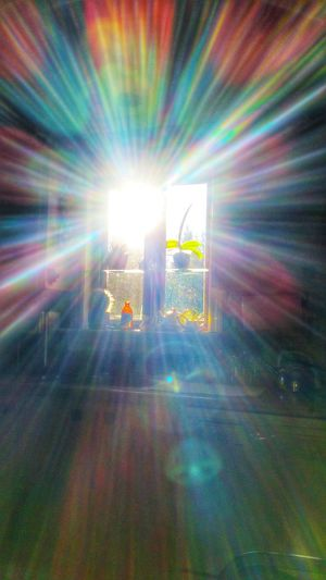 Sunbeam Indoors  Sun Coming Through Window Creative Photography Personal Perspective Creative Light And Shadow Star Shape Reflection Multi Colored Goodmorning :) Enjoying Life Smartphonephotography