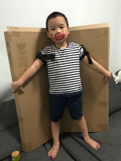 EyeEm Selects Childhood Child Front View Full Length One Person Indoors  Home Interior Lifestyles Standing Casual Clothing Males  Men Emotion Smiling Leisure Activity Portrait Real People Looking At Camera Innocence