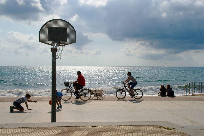 A day in the beach life. Basketball Beach Life Life Is A Beach Lifestyle Sony A350 Beach Bicycle Cloud - Sky Day Group Of People Horizon Over Water Instant Nature Outdoors People Sea Sky Sport Water Connected By Travel Be. Ready. An Eye For Travel Mobility In Mega Cities
