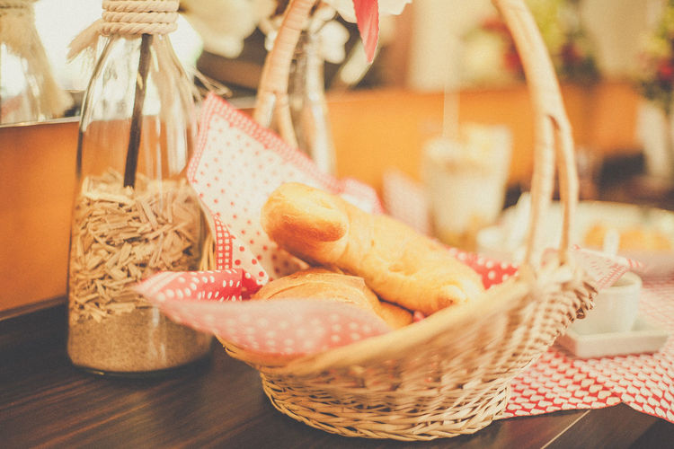 Basket Breakfast Close-up Croissant Day Food Food And Drink Freshness Good Mood :) Healthy Eating Indoors  Meal No People Start Your Day Right. Table
