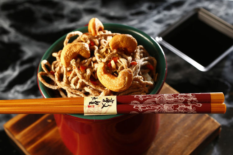 yakisoba Food Food And Drink Close-up No People Indoors  Healthy Eating Freshness Ready-to-eat Still Life High Angle View Table Yakisoba Chopsticks Bowl Asian Food Wood - Material Serving Size Indulgence Focus On Foreground Pasta Japanese Food Snack Tray Shoyu