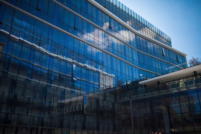 Architecture Blue Building Business Cluj Cluj-Napoca Glass Modern Modern Architecture Office Reflection Sky