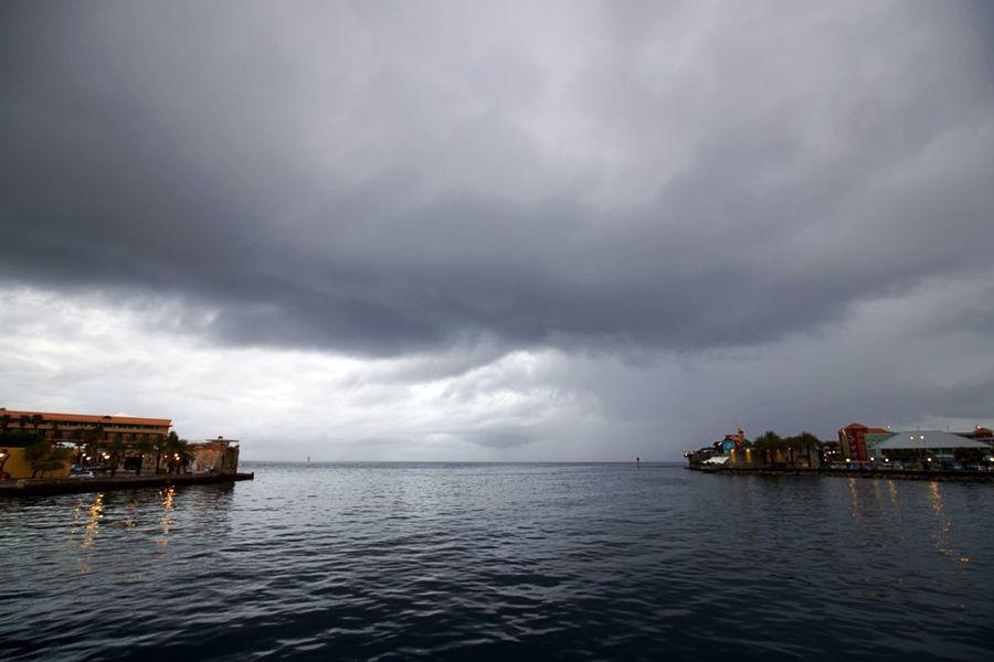 Punda Schottegat Building Exterior Cloud - Sky No People Otrabanda Overcast Scenics - Nature Sea Sky Storm Storm Cloud Water Waterfront