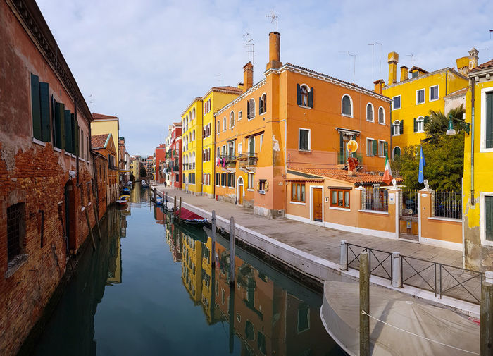 Cannaregio Canals Motorboats Boats Reflections And Shadows Reflections In The Water Panoramic Views Going Wide Broader Views Travel Traveling Travel Photography Travel Destinations Water Travel Destinations Architecture Vacations Sky Building Exterior Outdoors Multi Colored No People Day City