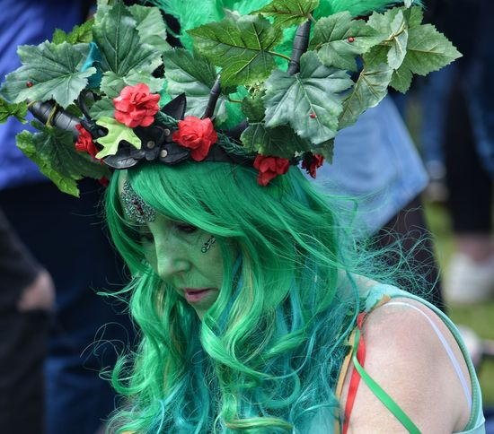 Jack In The Green Festival Jack In The Green May Day 2017 East Sussex Hastings Green Color Only Women Close-up One Woman Only Focus On Foreground Outdoors Adults Only One Person Green Hair Carnival Happiness Face Paint Pagan Pagan Festival Celebration Arts Culture And Entertainment Traditional Festival Multi Colored Flowers Live For The Story