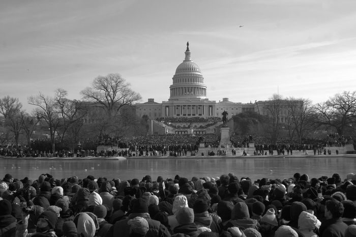 Obama Large Crowd Large Group Of People Cold Days Cold Temperature Big Crowd Crowd Capitol Building Capitol Hill Capitol Building - Washington Dc Inauguration  Barack Obama Inauguration Washington Blackandwhite Photography Capital Cities  Day Famous Place Inauguration 2009 International Landmark Presidential Inauguration Tourism Washington, D. C. Monochrome Photography Neighborhood Map Focus On The Story
