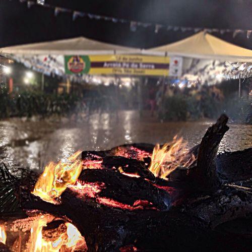 Hoje é dia de fogueira! ??? #BomDia Foto que tirei no Arraiá Pé de Serra da Vila São José