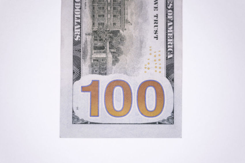 Single one hundred dollar bill backside 100 Dollar Bills American Benjamin Franklin Bills Bitcoin Buying Cash Compensation Currency Digital Fraud Management One Hundred Pay Payday Payment Salary Selling Tax Wages Wallet Wealth