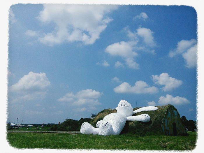 月兔曬太陽 Rabbit Taoyuan Land Art Festival Sunny Day