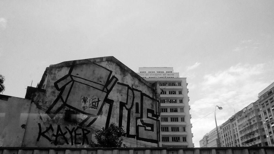 Casa Do Estudante Do Brasil Architecture Built Structure Building Exterior Day Sky Low Angle View Outdoors No People Prison Black And White Graffiti Art Graffiti Modern Skyscraper Blue Color Azul Black And White Friday