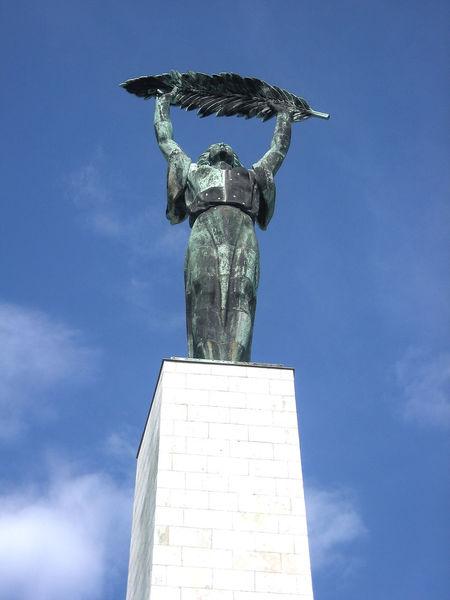 Budapest, Hungary Monument Soviet Art Palm Leaf Freedom Statue Liberty Statue Budapest Gellerthill